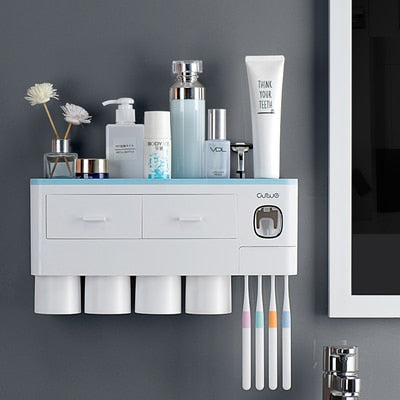 Multi-Functional Toothbrush Holder