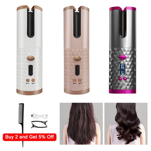 Auto Rotating Cordless Ceramic Hair Curler