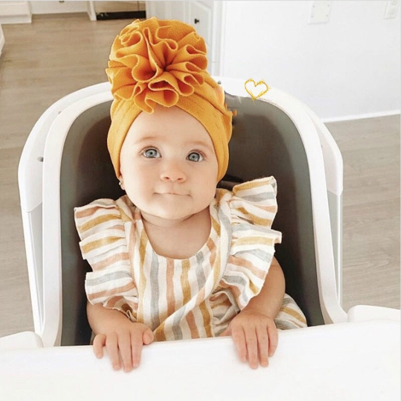Baby turban bow hat