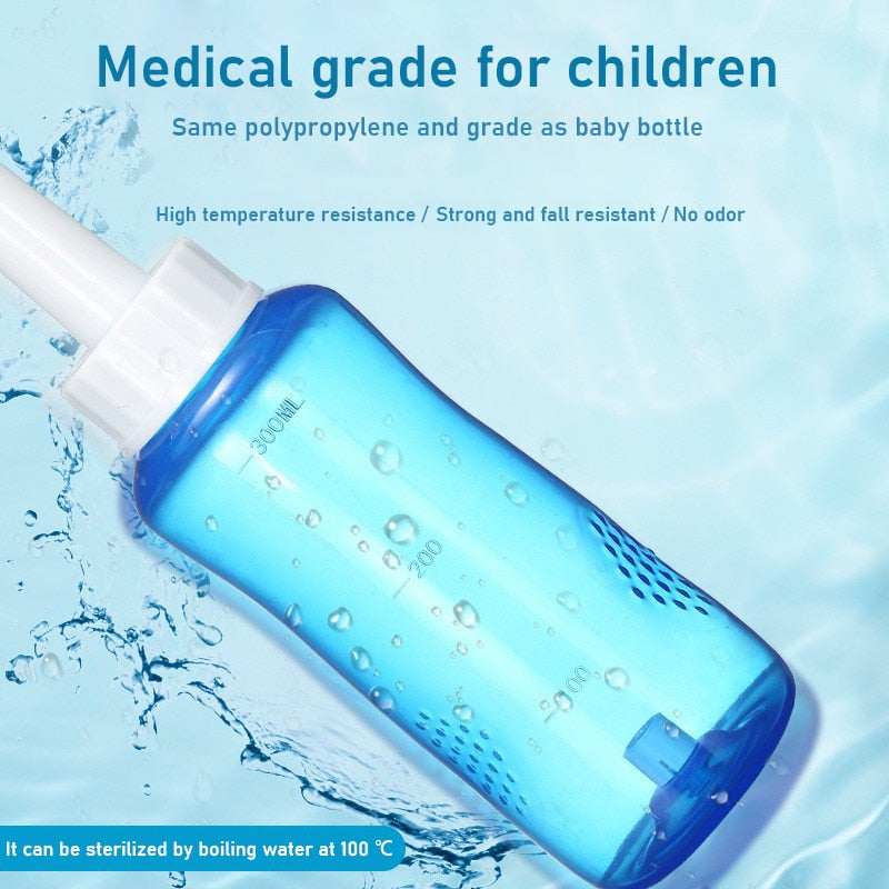 300ml Adults Children Nasal Wash Cleaner Nose Protector Cleans Moistens Child Adult Avoid Allergic Rhinitis Neti Pot