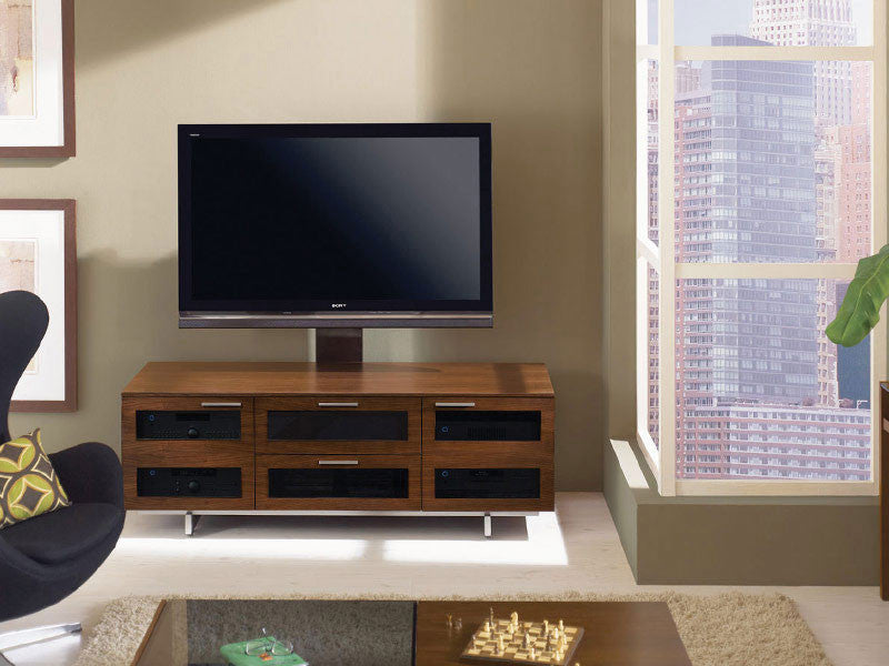 Avion 8927 in Chocolate Stained Walnut finish, shown with the Arena TV Mount 9970