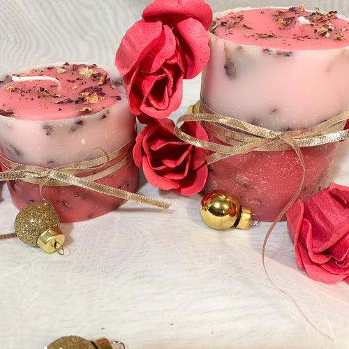 Rose Garden Candles (set of 2)