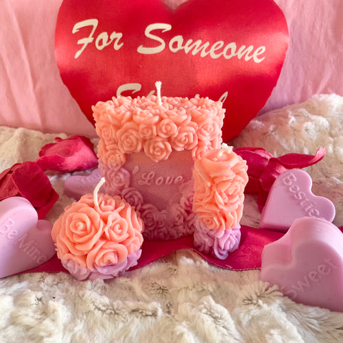 Touched By A Rose Candle Sets of 3