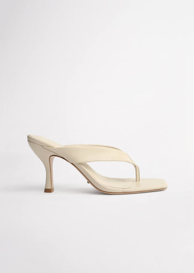 Bellah Vanilla Sheep Nappa Heels