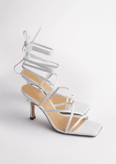 Caden White Sheep Nappa Heels