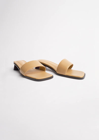 Chelsey Honey Sheep Nappa Heels