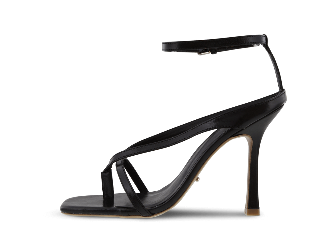 Faythe Black Kid Heels