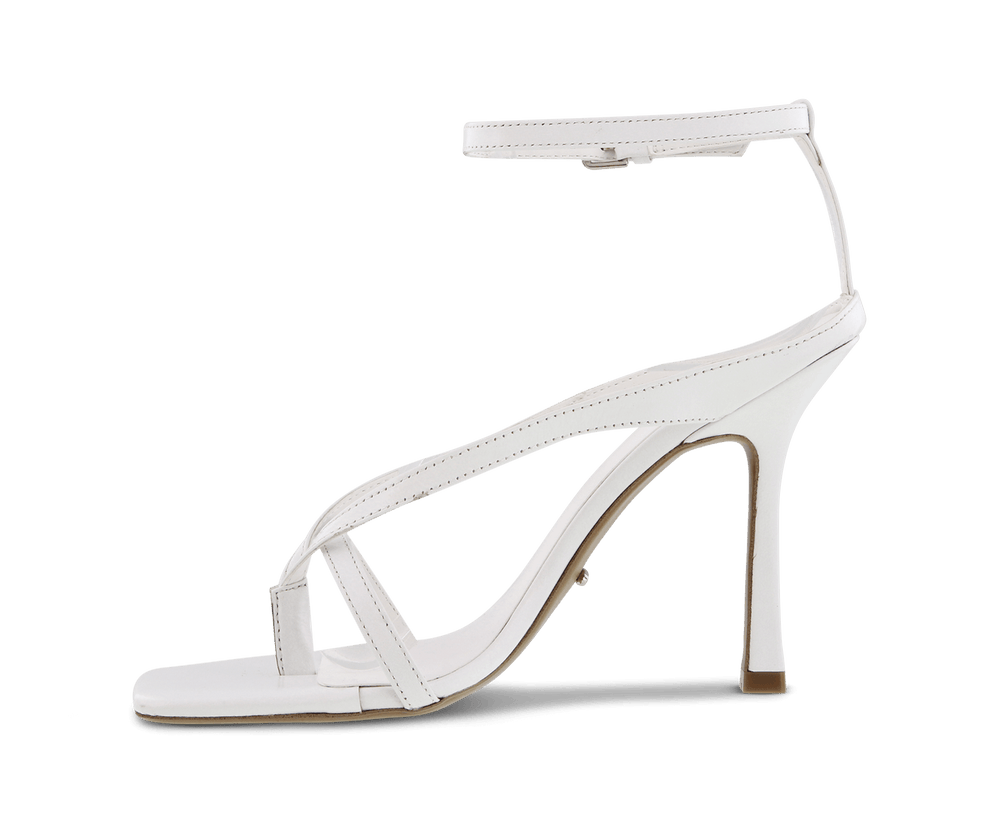 Faythe White Kid Heels