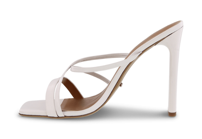 Fior White Kid Heels
