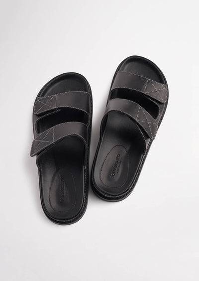 Hannah Black Capretto Sandals