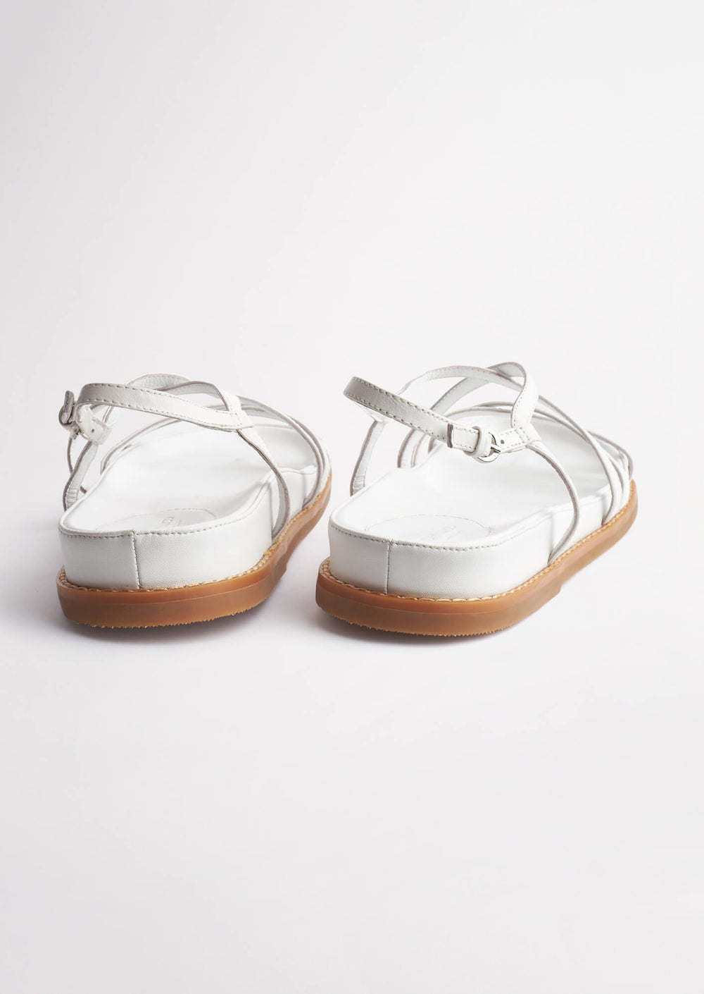Hazel Milk Capretto Sandals