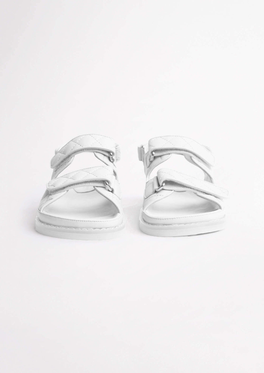 Hiranni White Sheep Nappa Sandals