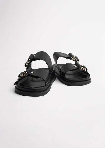 Hunter Black Como Sandals
