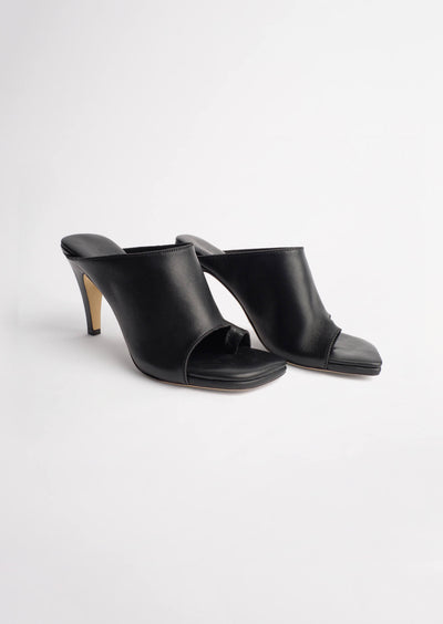 Jade Black Sheep Nappa Heels