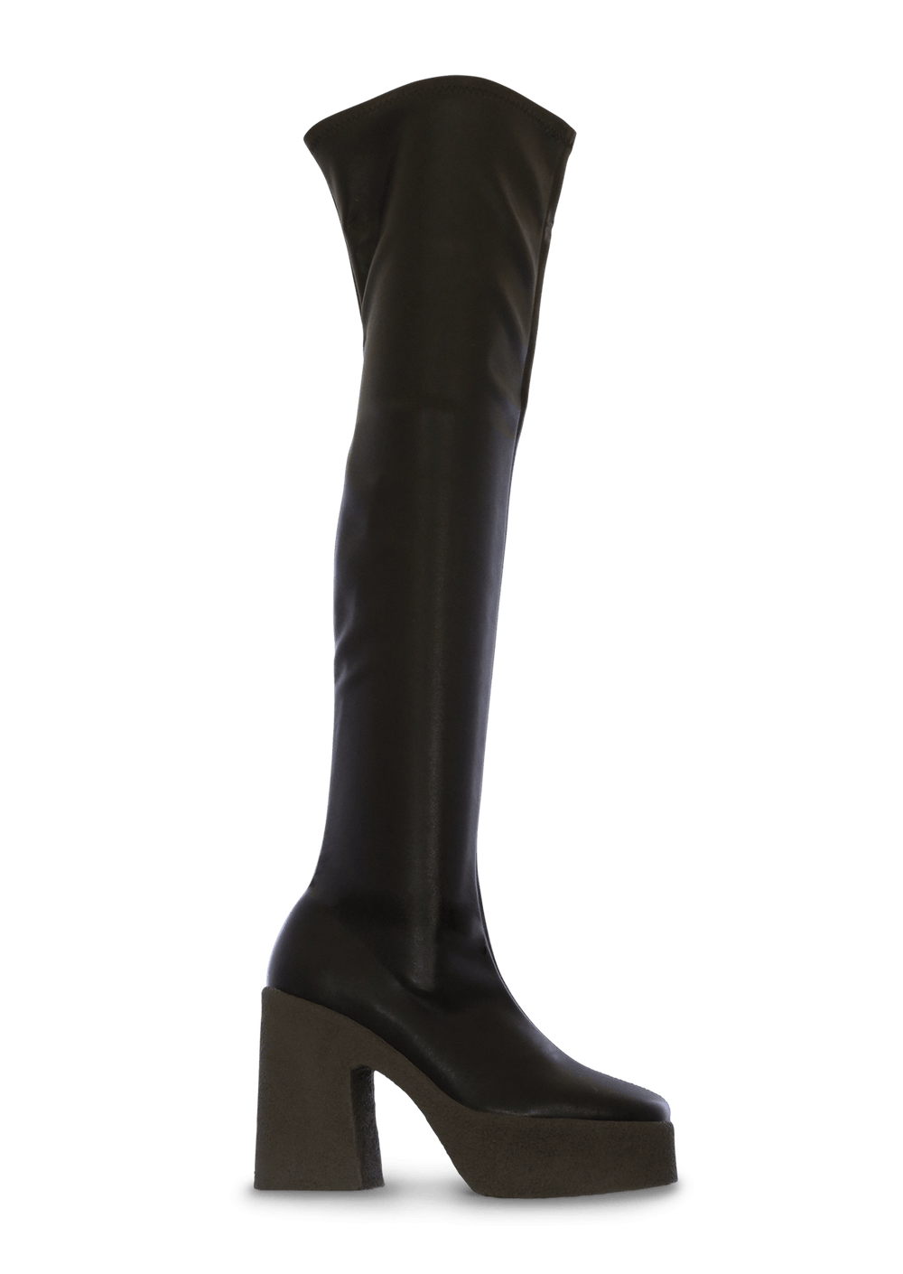Janey Black Stretch Long Boots