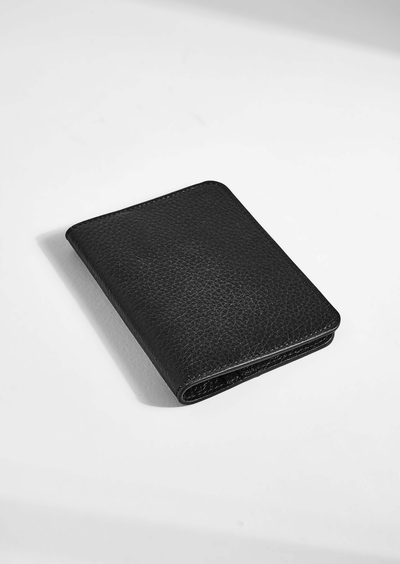 Passport Holders Black Oxford Wallet