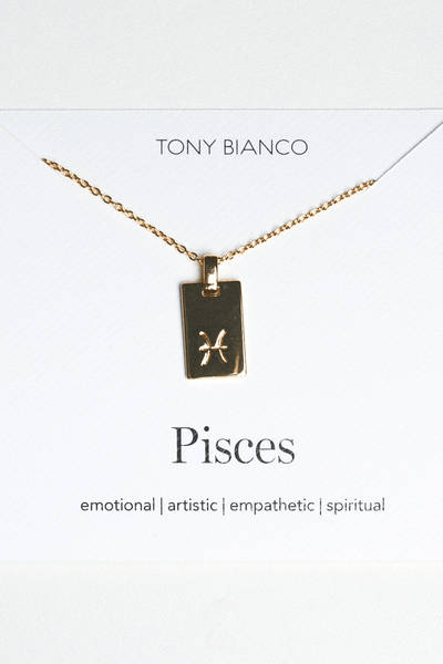 Pisces Zodiac Necklace Gold Promo