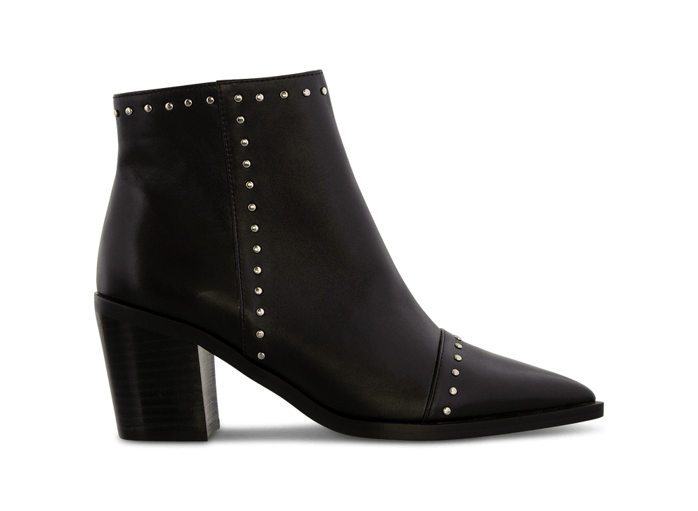 Sandre Black Luxe Ankle Boots | Boots