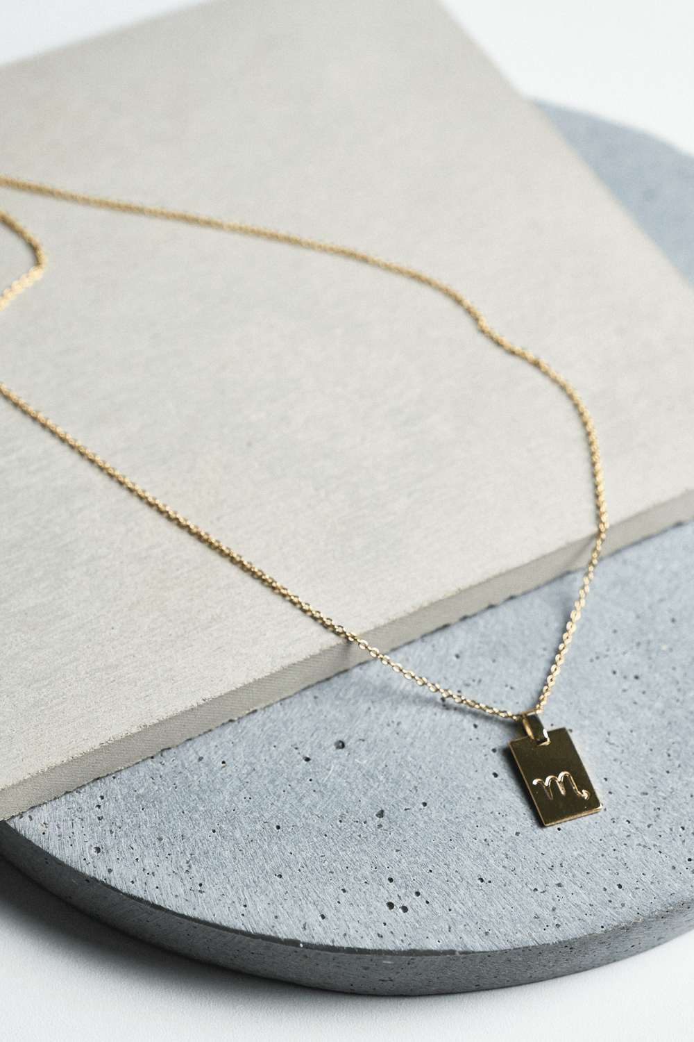 Scorpio Zodiac Necklace Gold Promo