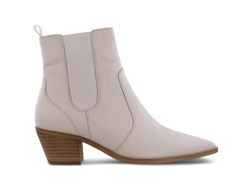 Troi Milk Capretto Ankle Boots
