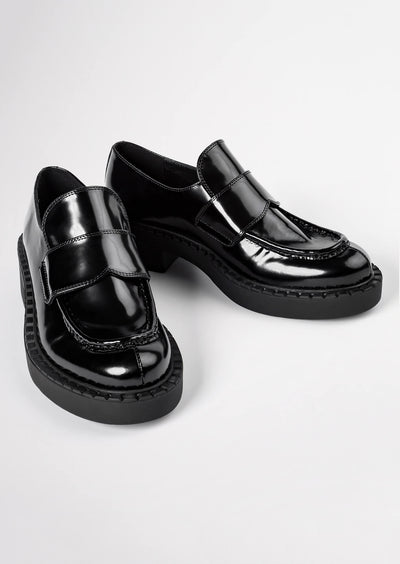 Corvette Black Hi Shine Casual Shoes