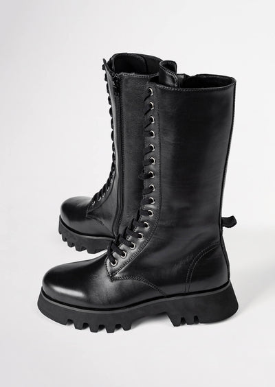 Icon Black Como Calf Boots