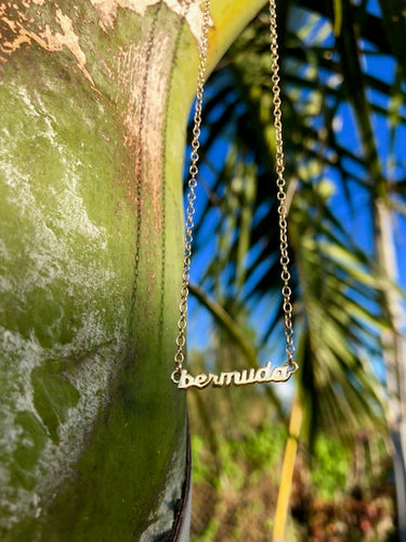 Bermuda Script Necklace