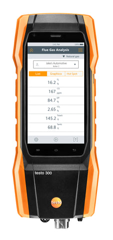NEW Testo 300 LL - Industrial Combustion Analyzer with NOx & Printer
