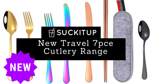 SUCKITUPstraws Travel Cutlery Set