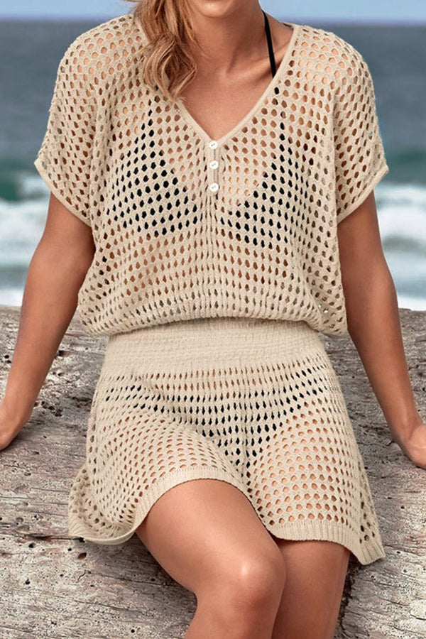 Cover Up Crochet Ivoire
