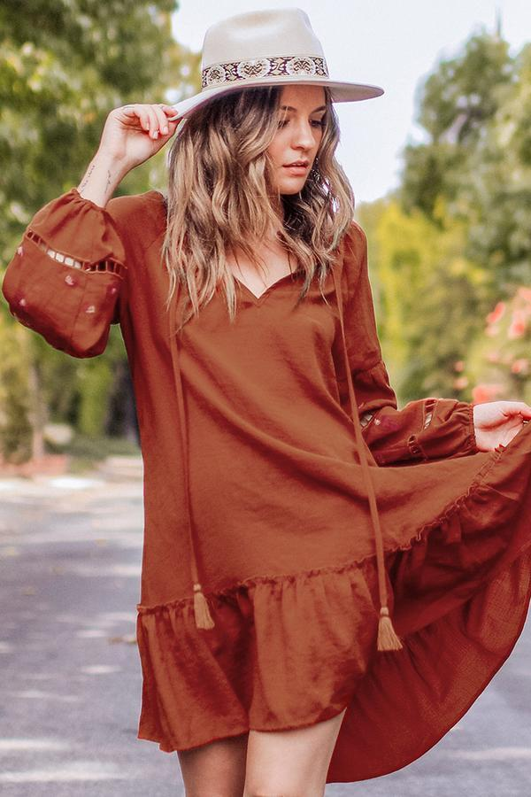 Robe Boho à volants