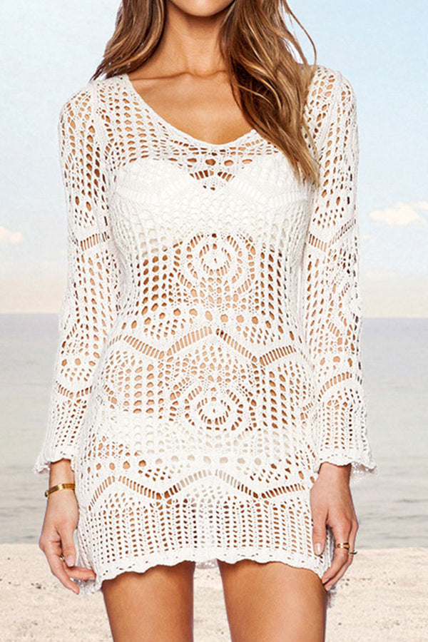 Cover up en crochet blanc Cupshe