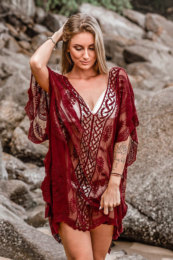 Cover up style boho rouge cupshe