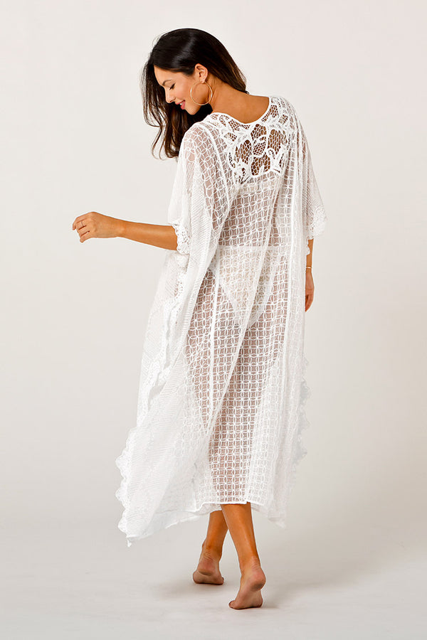 Cover up long blanc en broderie Cupshe