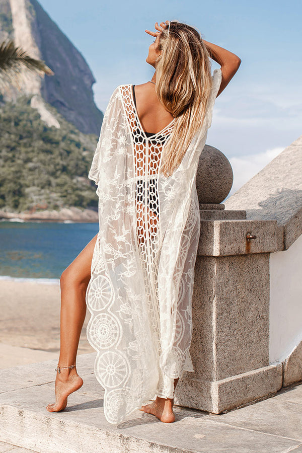 Cover up cafetan en crochet