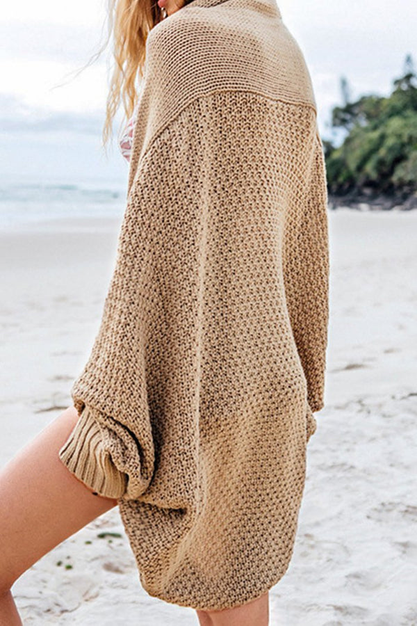 Cardigan ample en maille