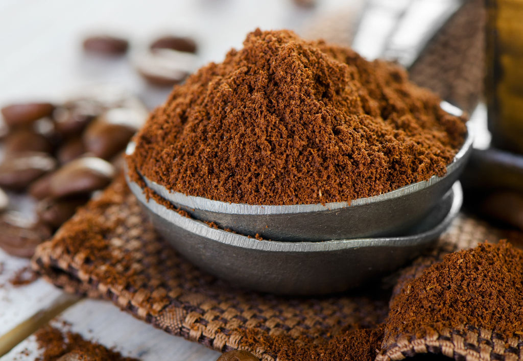 a heap of coffee grounds