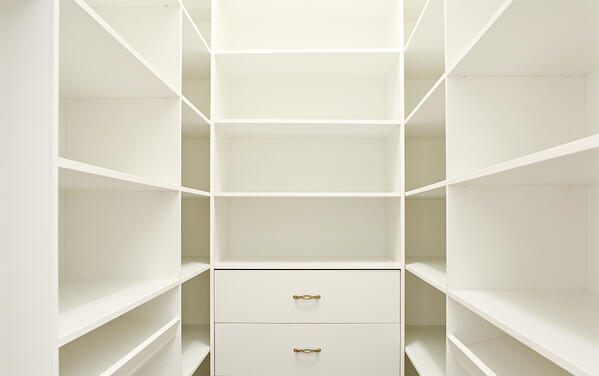 Clean out, vacuum and wipe down all surfaces in your closets