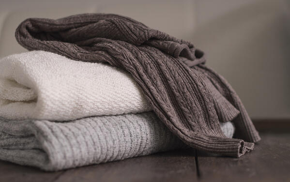 Fold, don't hang cashmere and merino fine garments