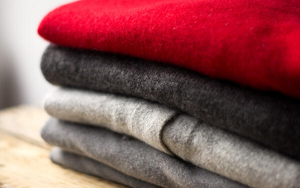 cashmere sweaters folded