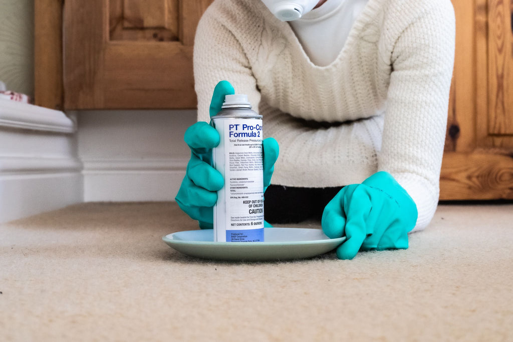 Preparing a Moth Fogger for use in the home