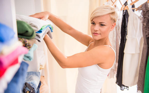 organize your closet by clothing category
