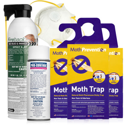 CLOTHES MOTH KILLER KIT | 6 Months Protection for Closet Clothing | Professional Grade