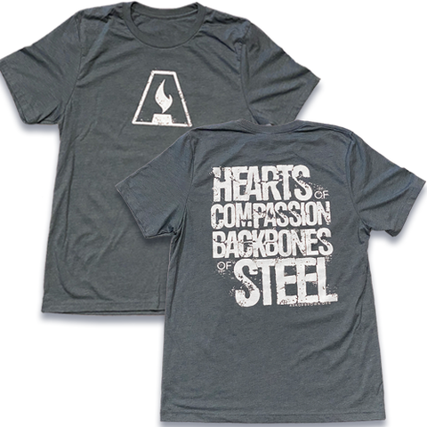 Hearts/Backbones T-SHIRT (Slate) *Special Edition*