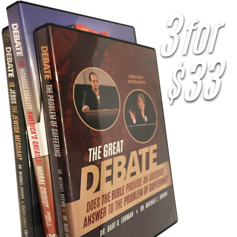 *Special* 3 for 33 Debate DVD Trio!