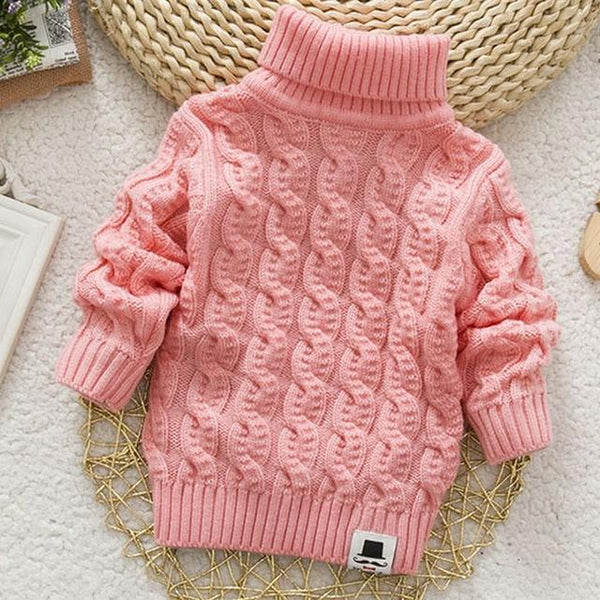 Unisex Turtleneck  Children's Sweater with Beard Label