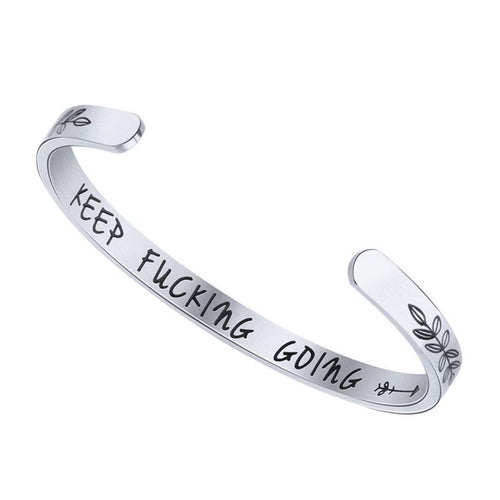 KEEP F*CKING GOING INSPIRATIONAL BRACELET
