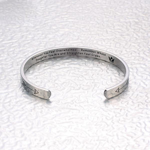 """REMEMBER WHOSE ...YOU ARE AND STRAIGHTEN YOUR CROWN"" BRACELET"
