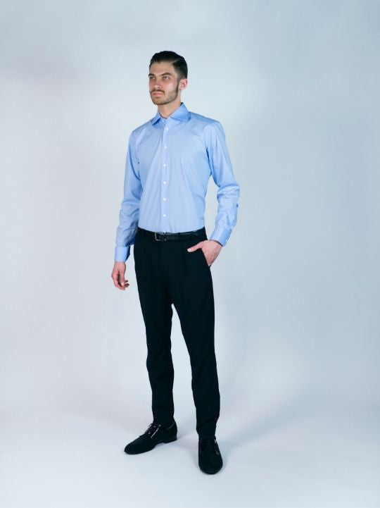 Sky Blue Cotton Stretch Shirt