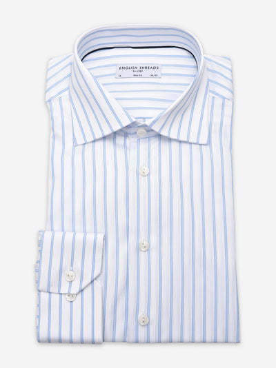 Light Blue Striped Twill Shirt